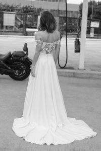 Cornell (top) and Clyde (skirt) wedding dress by Rime Arodaky