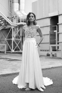 Gavin (top) and Clyde (skirt) wedding dress by Rime Arodaky