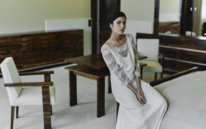 Gibson wedding dress by Rime Arodaky