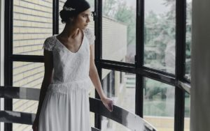 Stone wedding dress by Laure de Sagazan