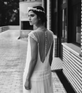 Tracy Drieu wedding dress by Laure de Sagazan