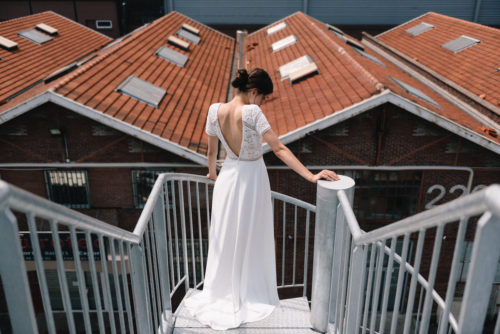 Lison wedding dress by Mademoiselle de Guise available at The Mews Bridal