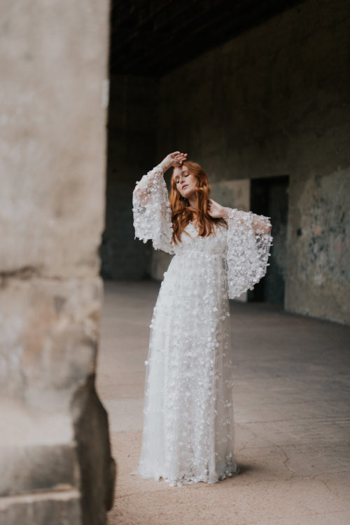 Clover wedding dress by Isabella Boutin at The Mews Bridal