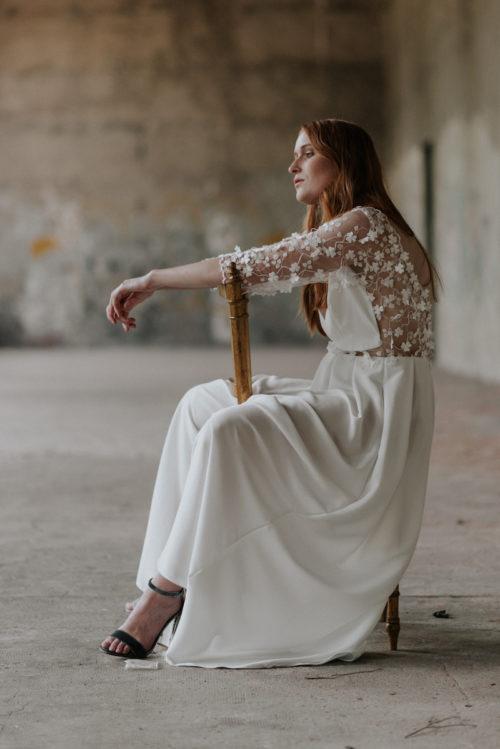 Cressidia wedding dress by Isabella Boutin at The Mews Bridal