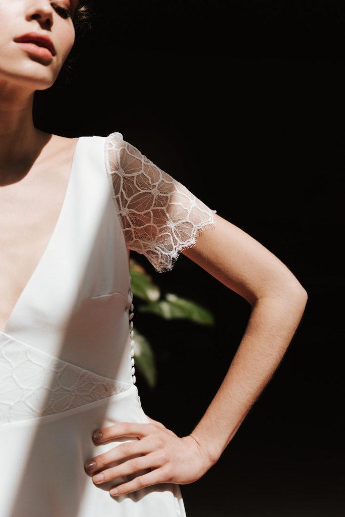 Charlene wedding dress by Mademoiselle de Guise